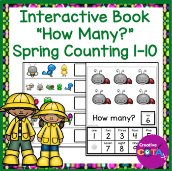 Interactive Counting Book Spring Numbers 1-10