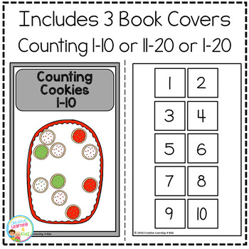 Interactive Counting Books 1-20: Christmas Cookies
