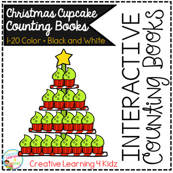Interactive Counting Books 1-20: Christmas Cupcakes