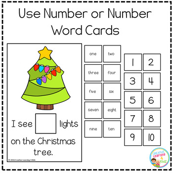 Interactive Counting Books 1-20: Christmas Tree Lights