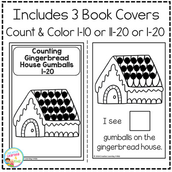 Interactive Counting Books 1-20: Gingerbread House Gumballs