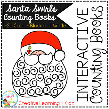 Interactive Counting Books 1-20: Santa Swirls