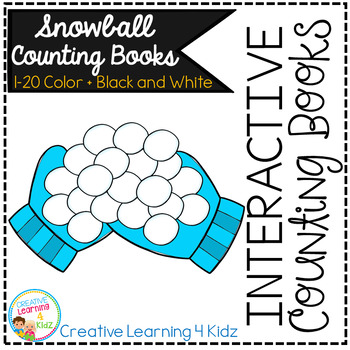Interactive Counting Books 1-20: Snowballs