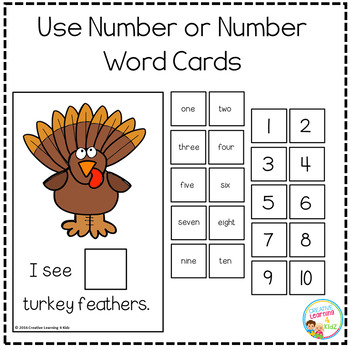 Interactive Counting Books 1-20: Turkey Feathers