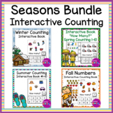 Interactive Counting Books Seasons Bundle