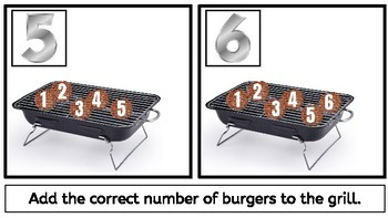 Interactive Counting Mats: Burgers on a Grill