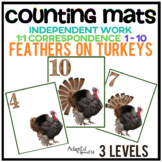 Interactive Counting Mats: Thanksgiving Turkeys