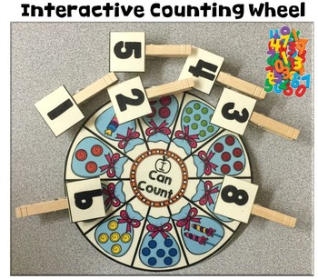 Interactive Counting Wheel Freebie