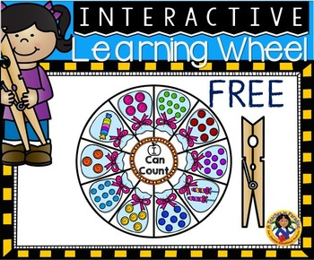 Interactive Counting Wheel Freebie