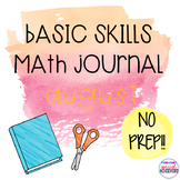 Interactive Cut and Paste Math Journal: August