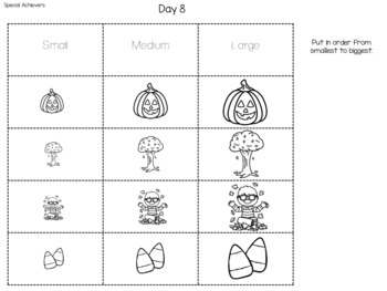 Interactive Cut and Paste Math Journal: October