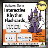 Interactive DIGITAL Rhythm Flashcards | Halloween Music Re