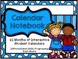 Interactive Daily Calendar Notebook