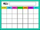 Daily Calendar in Spanish