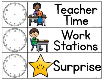 Interactive Daily Schedule for Special Education Classrooms