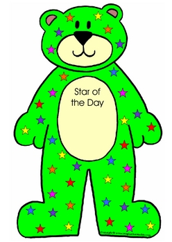 Interactive Days of the Week Bears