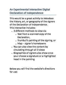 Interactive Declaration of Independence