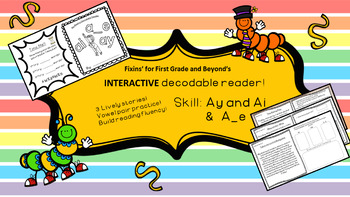graphic regarding Printable Decodable Books for First Grade identify Interactive Decodable Reader/Printable Booklet - ai, ay and a_e
