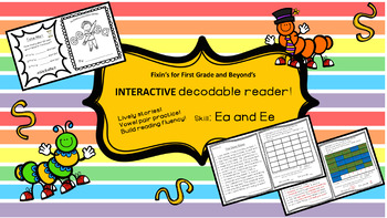 Interactive Decodable Reader/Printable Booklet - ee, ea