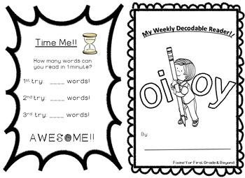 Interactive Decodable Reader/Printable Booklet - oi, oy