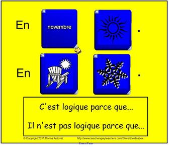 Interactive Dice French Weather Vocabulary Activity with Worksheets