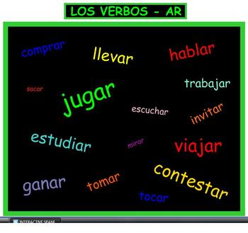 Interactive Dice Spanish -AR Verbs with Worksheets