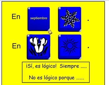 Interactive Dice Spanish Weather Vocabulary Activity with Worksheets