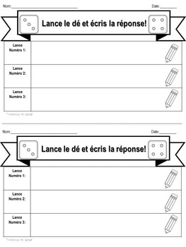 Interactive Dice for Reading Comprehension en français!