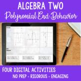 Interactive Digital Activities Polynomial Functions End Behavior Algebra 2