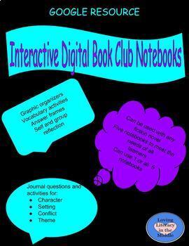 Digital Interactive Book Club Notebook Bundle