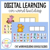 Interactive Digital CVC Word Building- Distance Learning