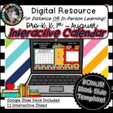 Interactive Digital Calendar - Google Slides AUGUST