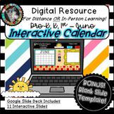 Interactive Digital Calendar - Google Slides JUNE