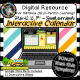 Interactive Digital Calendar - Google Slides SEPTEMBER