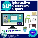 Interactive Digital Classroom Clipart for SLPs
