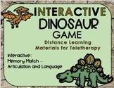 Interactive Digital Dinosaur Matching Game - Teletherapy