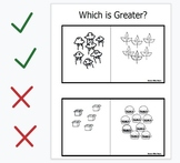 Interactive Digital Greater Than or Less Than Cards