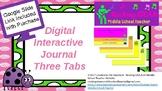 Interactive Digital Journal Three Tab Foldable