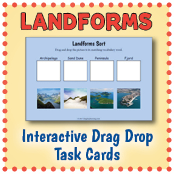 Interactive Landforms Task Cards