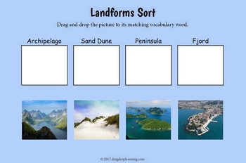 Interactive Geography Landforms Task Cards