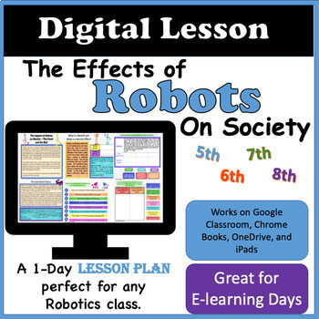 Interactive Digital Lesson:  The Effects of Robots on Society