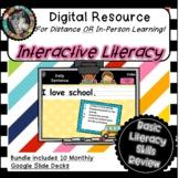Interactive Digital Literacy Skills Bundle - 10 Monthly De