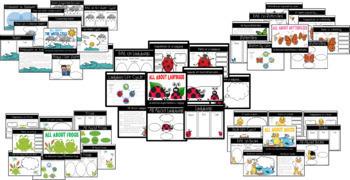Digital Notebook Bundle (Water Cycle, Frogs, Butterflies, Ducks, and Ladybugs)