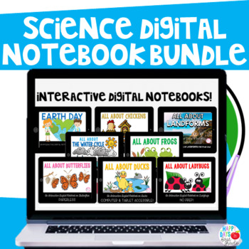 Digital Notebook Bundle (Water Cycle, Frogs, Butterflies,