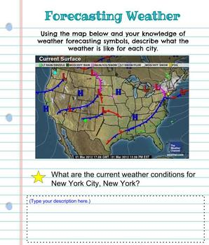 Interactive Digital Notebook: Forecasting Weather- Google Classroom Resource