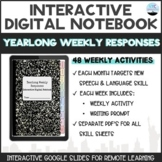 Interactive Digital Notebook: Yearlong Weekly Responses for Speech and Language