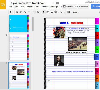 Digital Notebook for ANY Subject with GOOGLE® Slides plus Dictionary