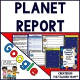 Planets and the Solar System Report Interactive Notebook Google Drive Activities