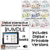 Interactive Digital + Printable Sentence Starter Books MEG