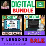 Interactive Digital R.A.C.E Lesson Plans & Spooky Practice Pages! BUNDLE!